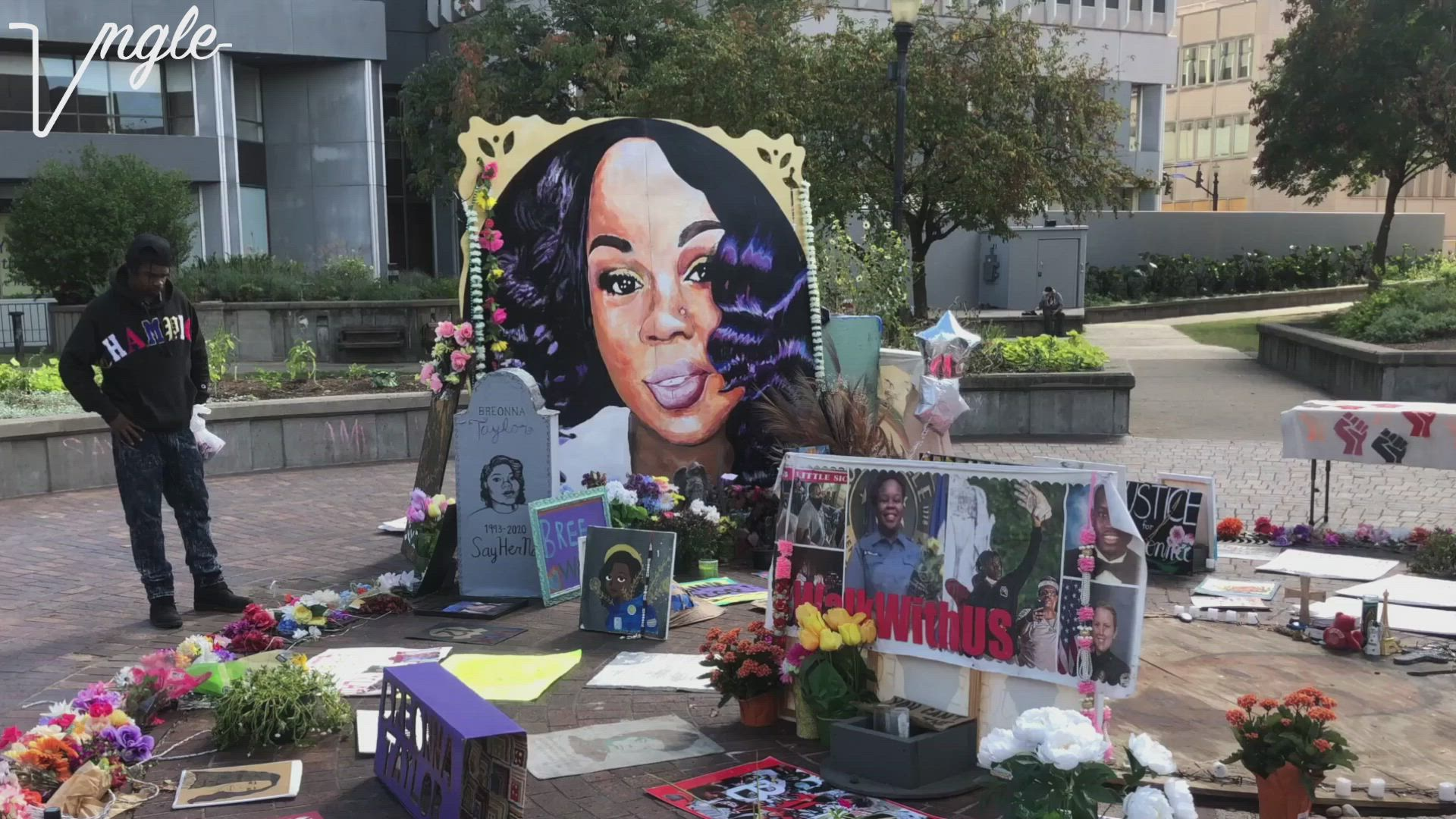 This is Breonna Taylor's Memorial.